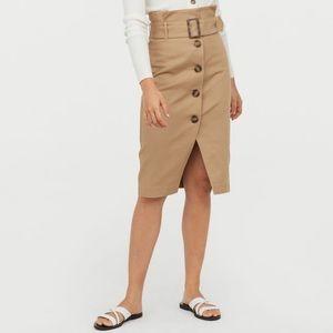 H&M Paper-bag Waist Pencil Skirt w/Belt